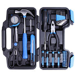CARTMAN Blue 39-Piece Cutting Plier Tool Set - General Household Hand Tool Kit with Plastic Toolbox Storage Case