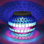 Solar Powered Color Changing LED Glass Ball Garden Light