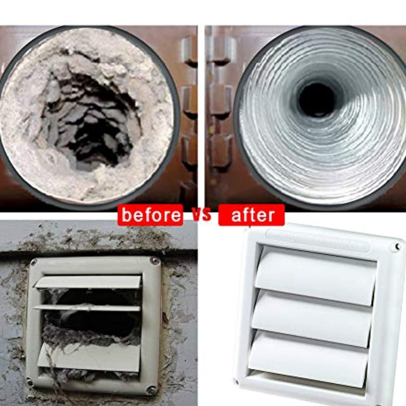 Dryer Vent Cleaning Kit Lint Removing Vacuum Attachment