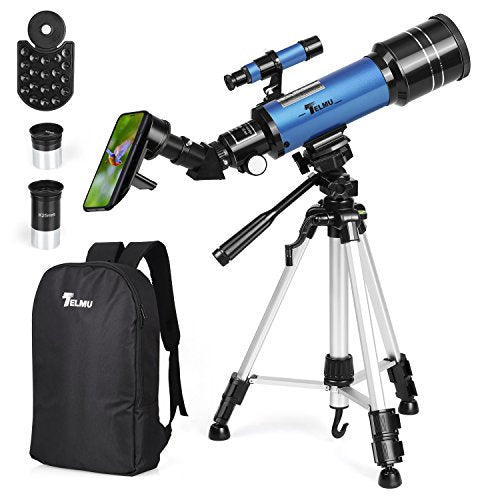 Portable 70mm Aperture Refracting Telescope with Free Backpack & Phone Adapter