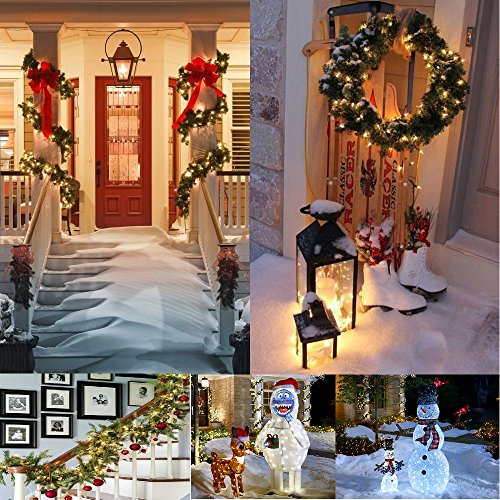 50 LED Battery Powered 18ft. Waterproof String Christmas Lights