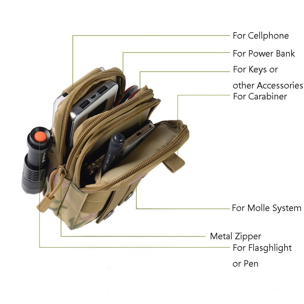 Tactical Compact Molle EDC Utility Gadget Waist Pouch