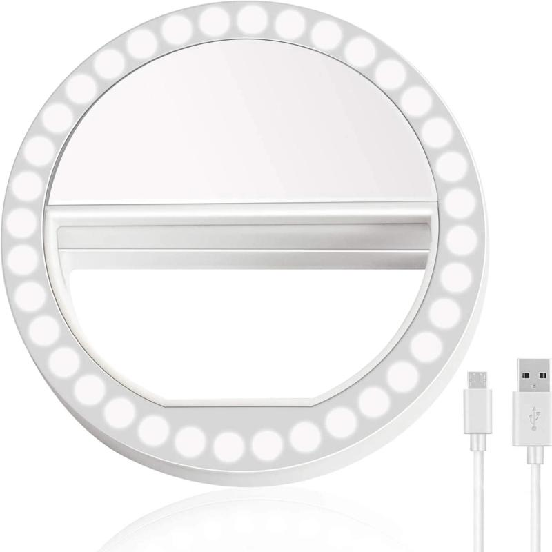 Portable Clip-On Selfie Ring Light For Smartphone