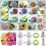 66 Pcs Deluxe Frosting Decorating Russian Piping Tips Set