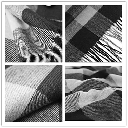 Rdylymx Men's Scarves Classic Arrival Winter Plaid Scarf Tassel Edge Soft Warm Scarf