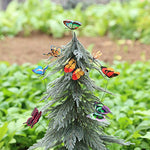 12 Piece: Colorful 3D Butterfly Garden Patio Stakes