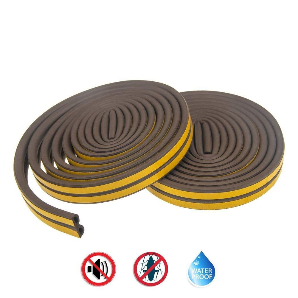 Home Self-Adhesive Weatherstrip Rubber Seal for Doors and Windows - 33 Feet Long