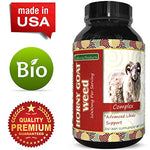 1000mg Natural Horny Goat Weed Sexual Performance Booster - 60 Capsules