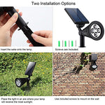 2 Pack: LED Solar Powered Auto ON/OFF Garden Landscape Walkway Lights