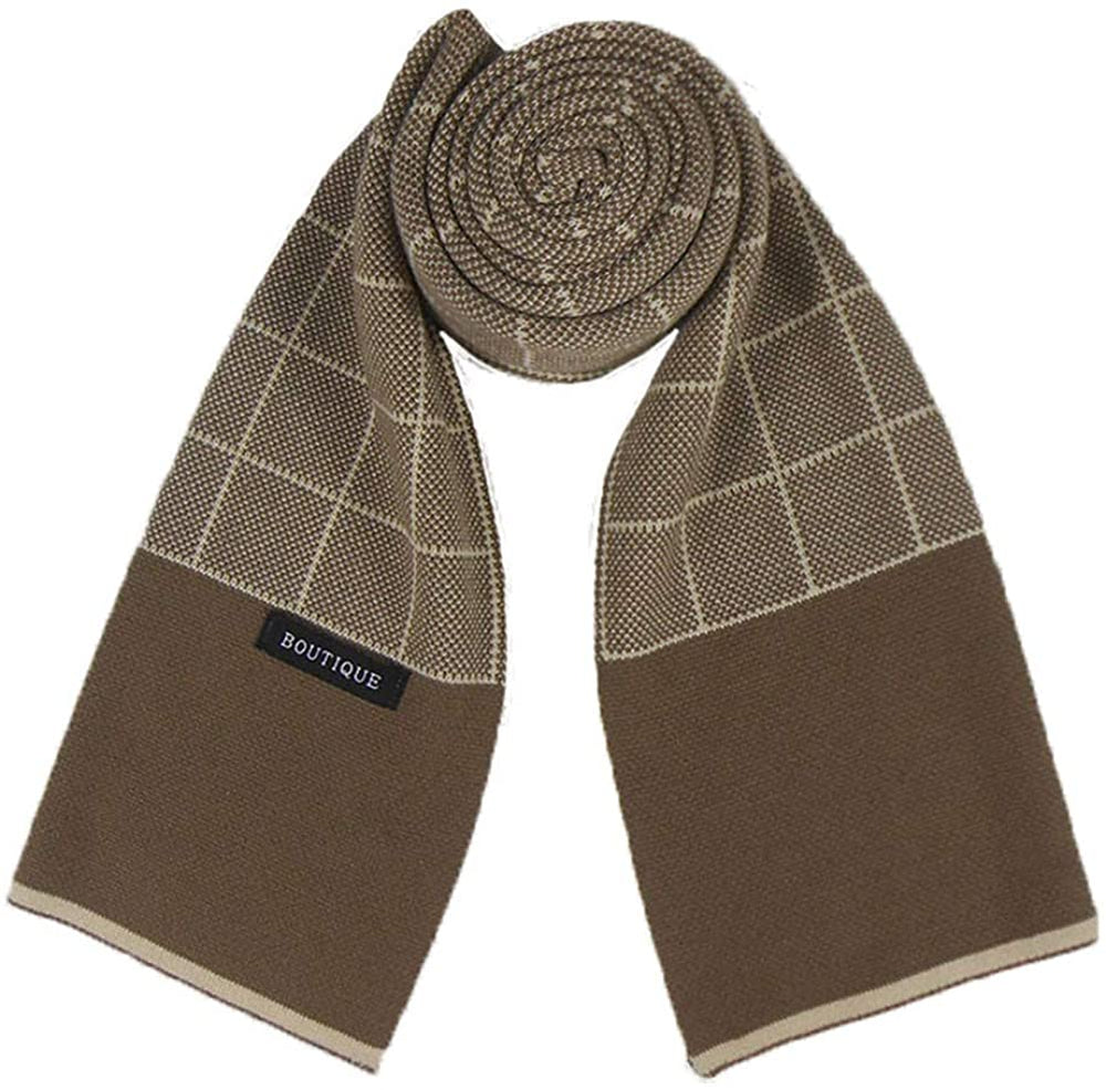 Runtlly Mens Luxurious Winter Scarf Premium Cashmere Feel Warm Soft Knit Scarf