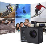 Full 1080P HD 12MP Waterproof Sports ActionCam with Mounting Accessories
