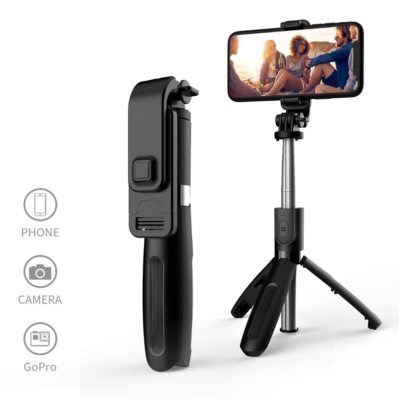 Handheld Tripod Selfie Stick With Detachable Wireless Remote