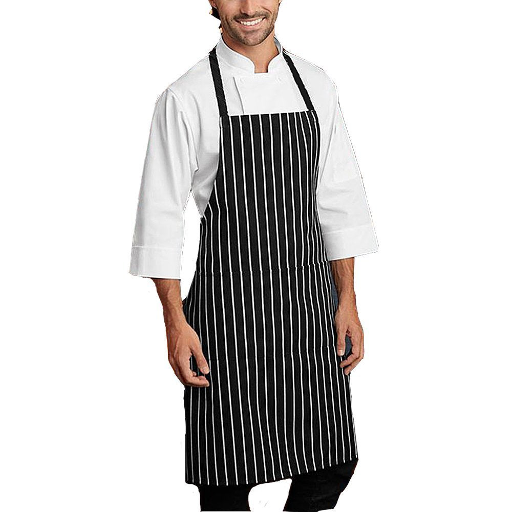 RC collection Black Bib kitchen Apron, Cooking Apron, Chef Aprons, Apron for Women, Apron For Men, Durable, Machine Washable, Comfortable