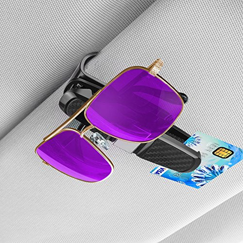 2 Pack: Car Sun Visor Sunglasses Clip