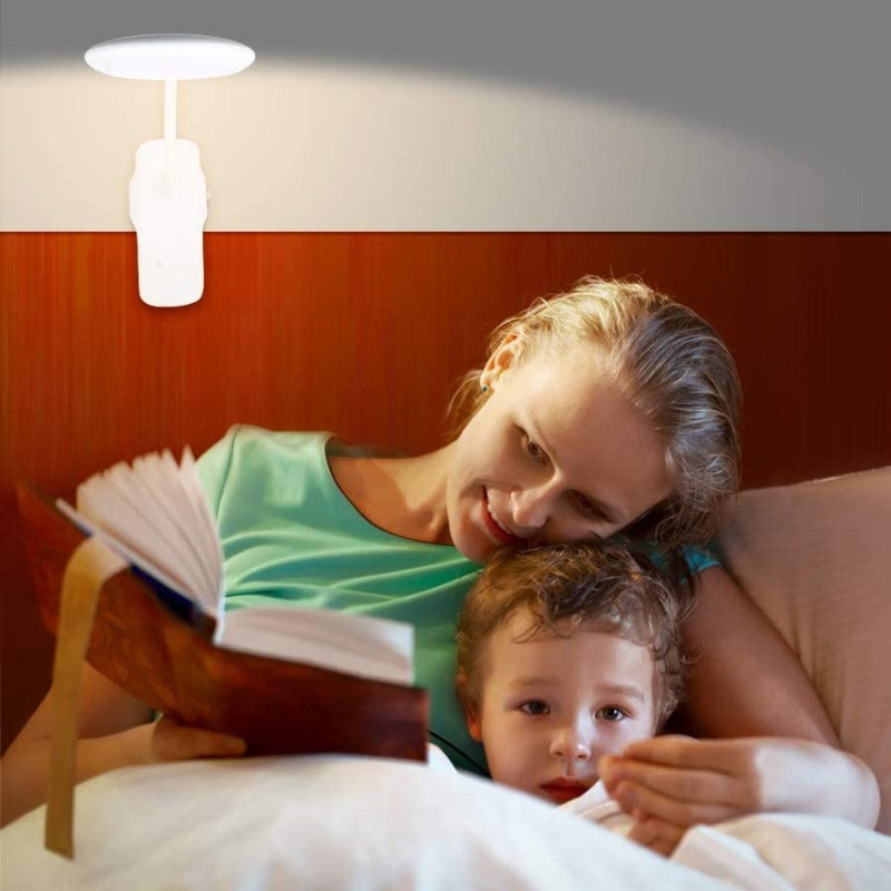 USB Rechargeable 360° Flexible Clip Light 28 LED Reading Light with 9 Different Settings
