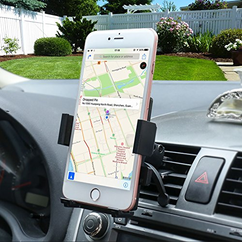 Universal Cell Phone Car Phone Mount Holder Cradle for iPhone 7/6S/6/5S/7 Plus, Samsung Galaxy S8 S7 Edge S6 S5 Note 5/4,Nexus,HTC,LG,Sony More Smartphone&GPS
