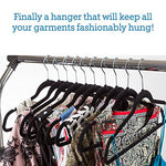 30 Pack: Premium Quality Space Saving Velvet Durable Clothing Hangers
