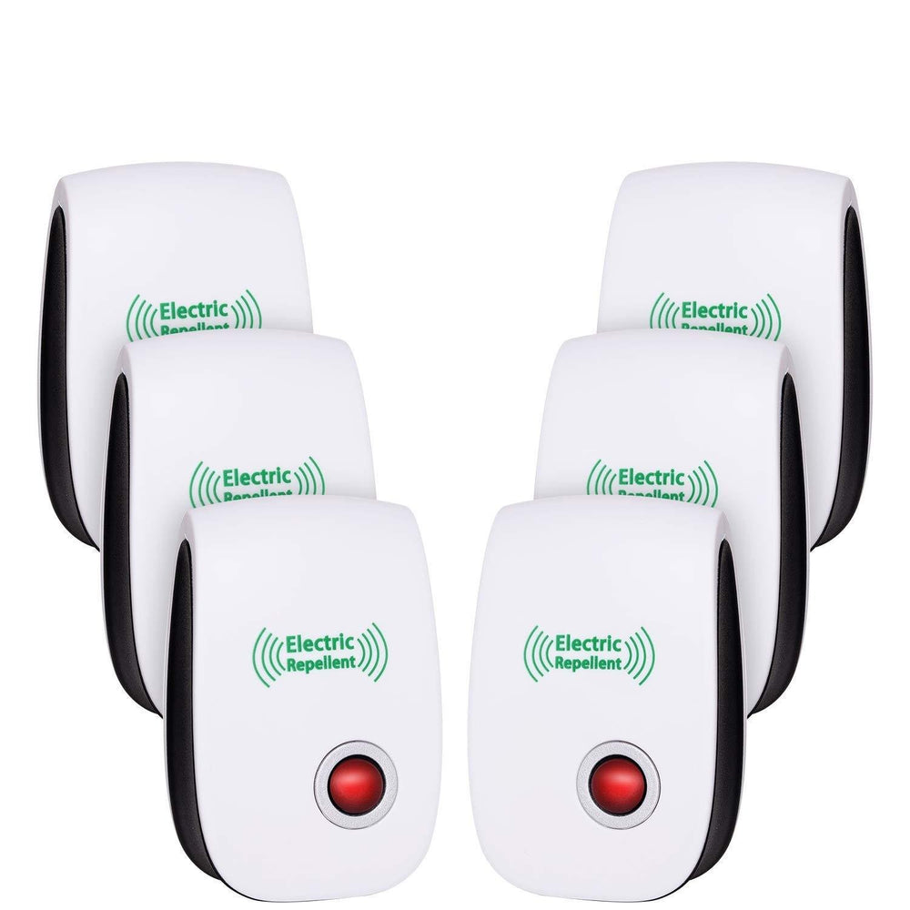 6 Pack: Ultrasonic Non-Toxic Pest Control Repellers