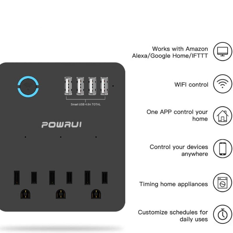Smart Power Strip WiFi Surge Protector - Works with Alexa and Google Home