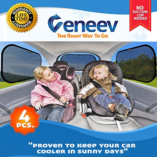 4 Pack: Car Window Sunshades