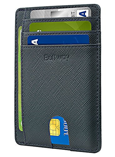 Slim Minimalist Front Pocket RFID Blocking Leather Wallet