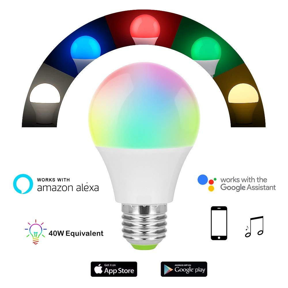 Smart WiFi App Control Light Bulb - Compatible with Alexa and Google