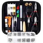 AL-Tools Jewelry Making Supplies Kit with Jewelry Tools, Jewelry Wires and Jewelry Findings for Jewelry Repair and Beading