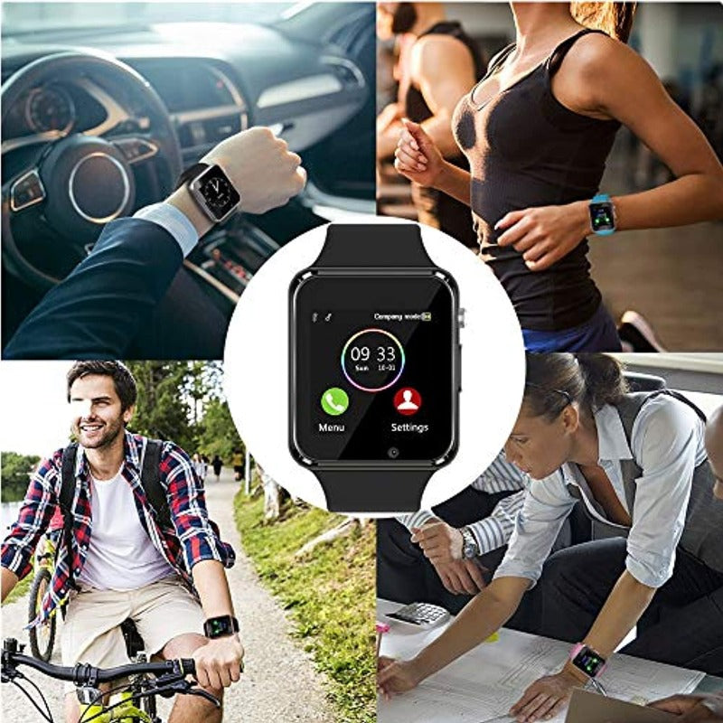 Touchscreen Bluetooth Smartwatch Fitness Tracker with SIM SD Card Slot