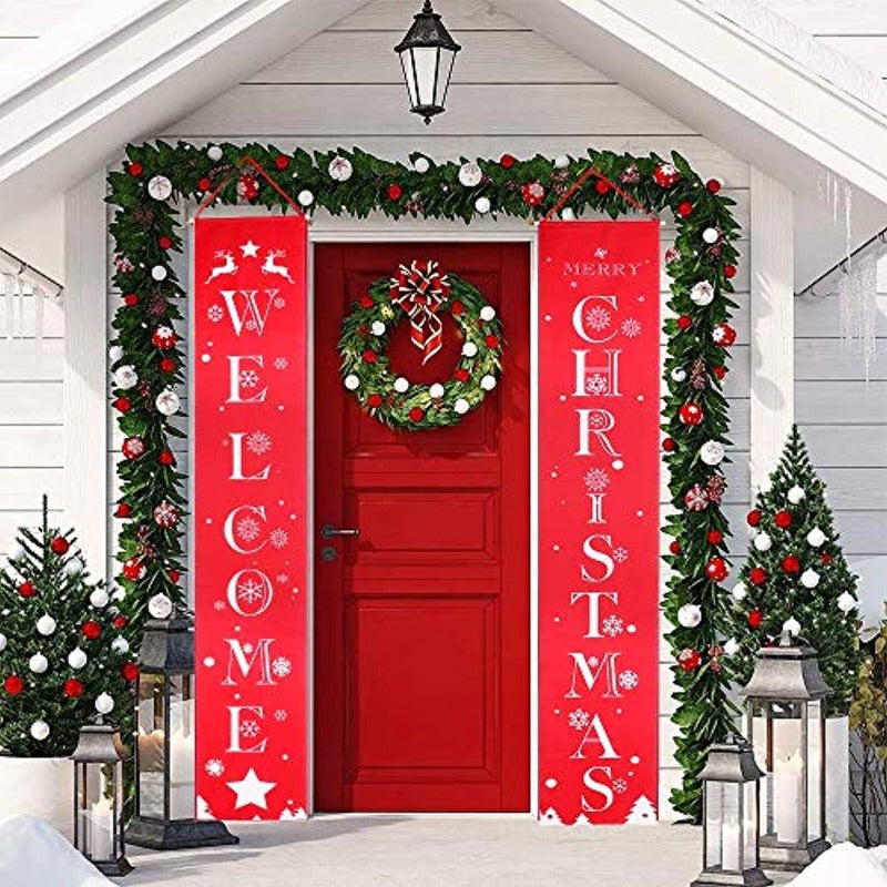 Welcome Christmas Banner Set