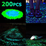 200 Pack: Glow-in-the-Dark Walkway Outdoor Garden Pebbles