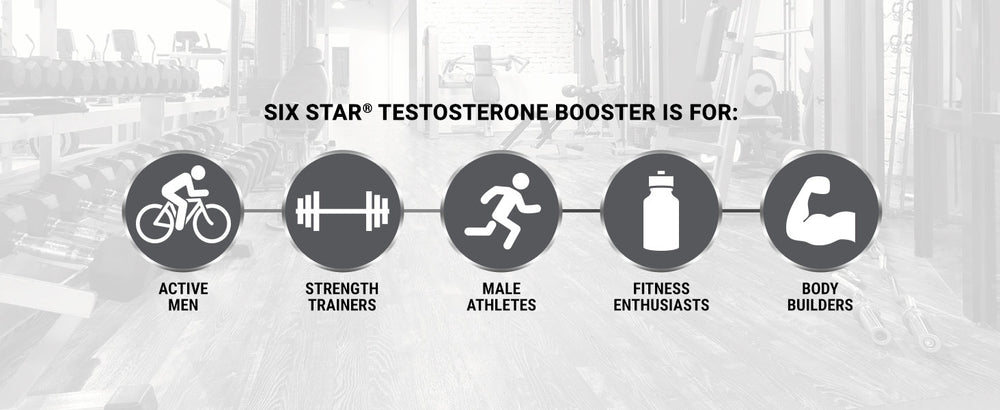 Qty 60 SixStar Extreme Strength Testosterone Booster - Enhances Training Performance - Maintain Peak Testosterone