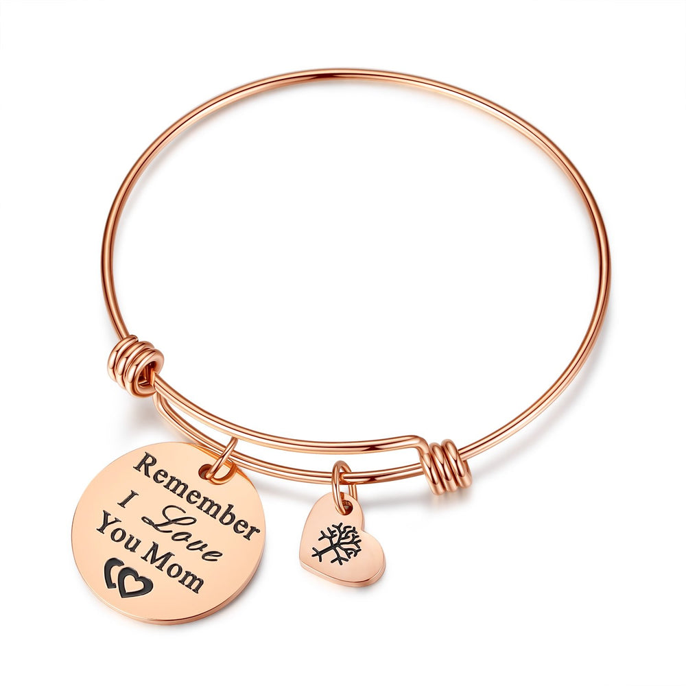 "Mother's Day ""Remember I Love You Mom"" Charm Bracelet"