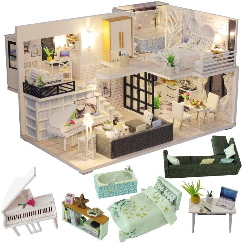 DIY Miniature Dollhouse With Furniture
