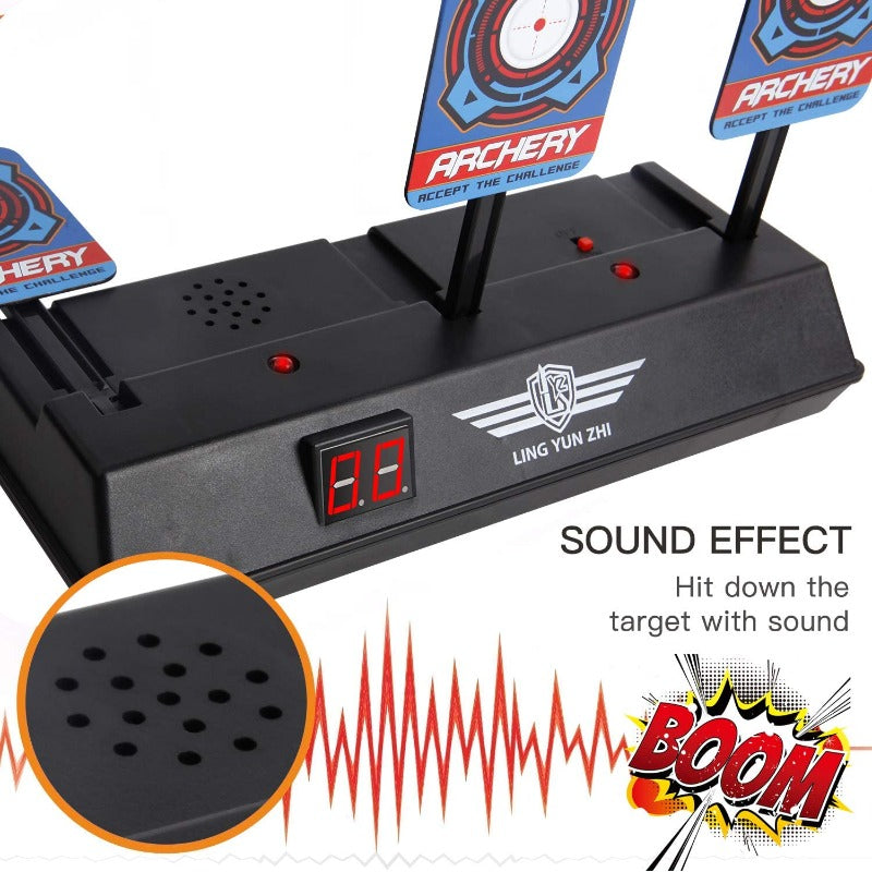 Electric Scoring Digital Shooting Target With 40 Refill Darts And 2 Wrist Bands
