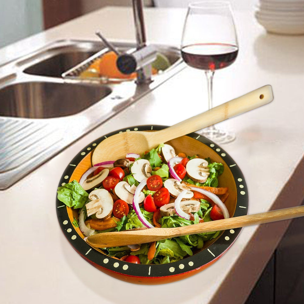 6 Piece: Premium Bamboo Kitchen Cooking Utensils Set