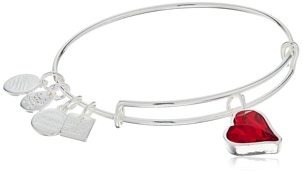 Women's Hearth Strength Bangle with Little Love Charms