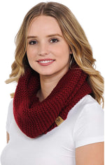 Basico Infinity Scarf | Winter Crochet Knit Scarf in One Size