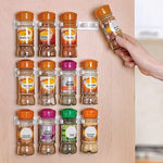 4 Pcs Kitchen Spice Rack Clip Set Organizer