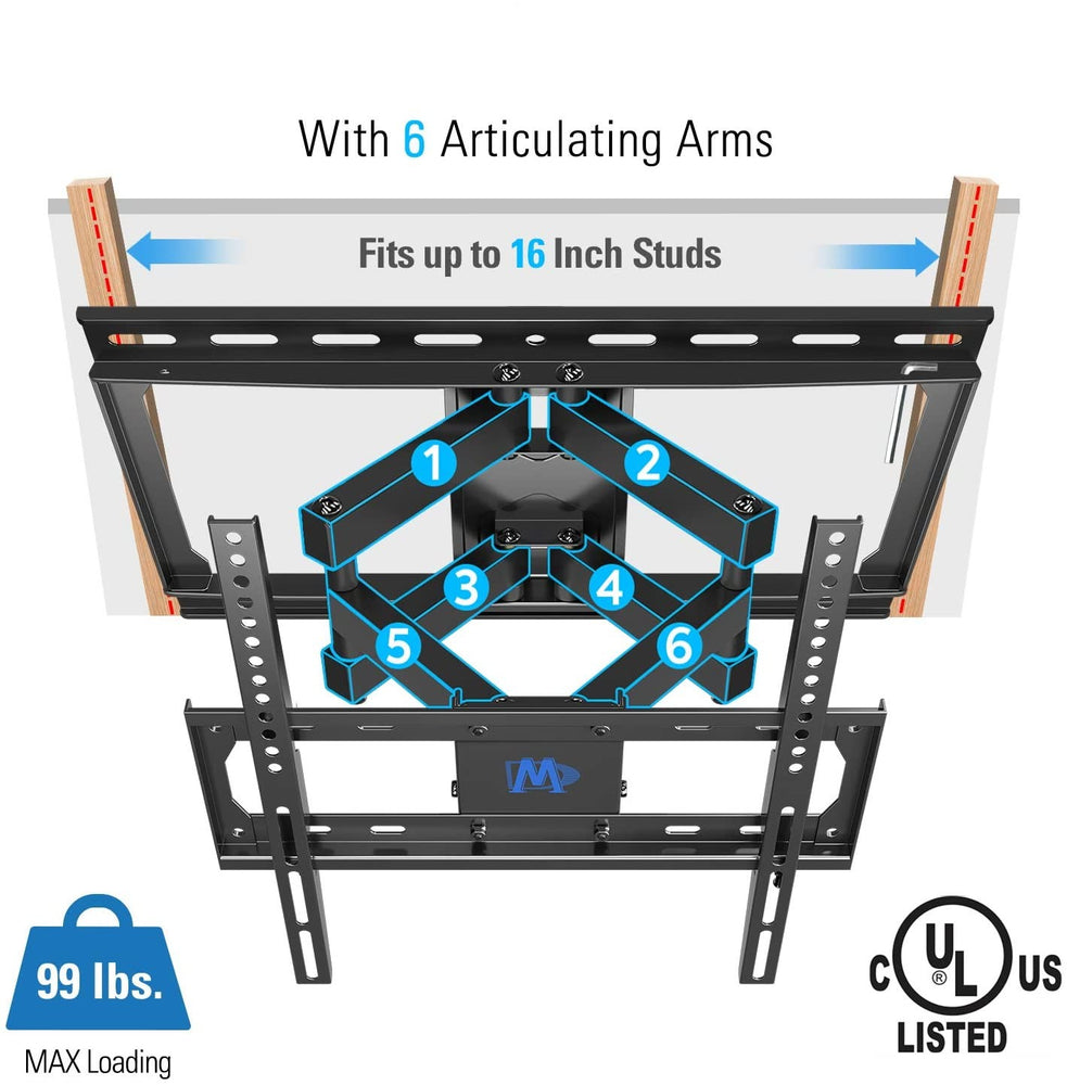 Full Motion Articulating Armed TV Bracket Wall Mount