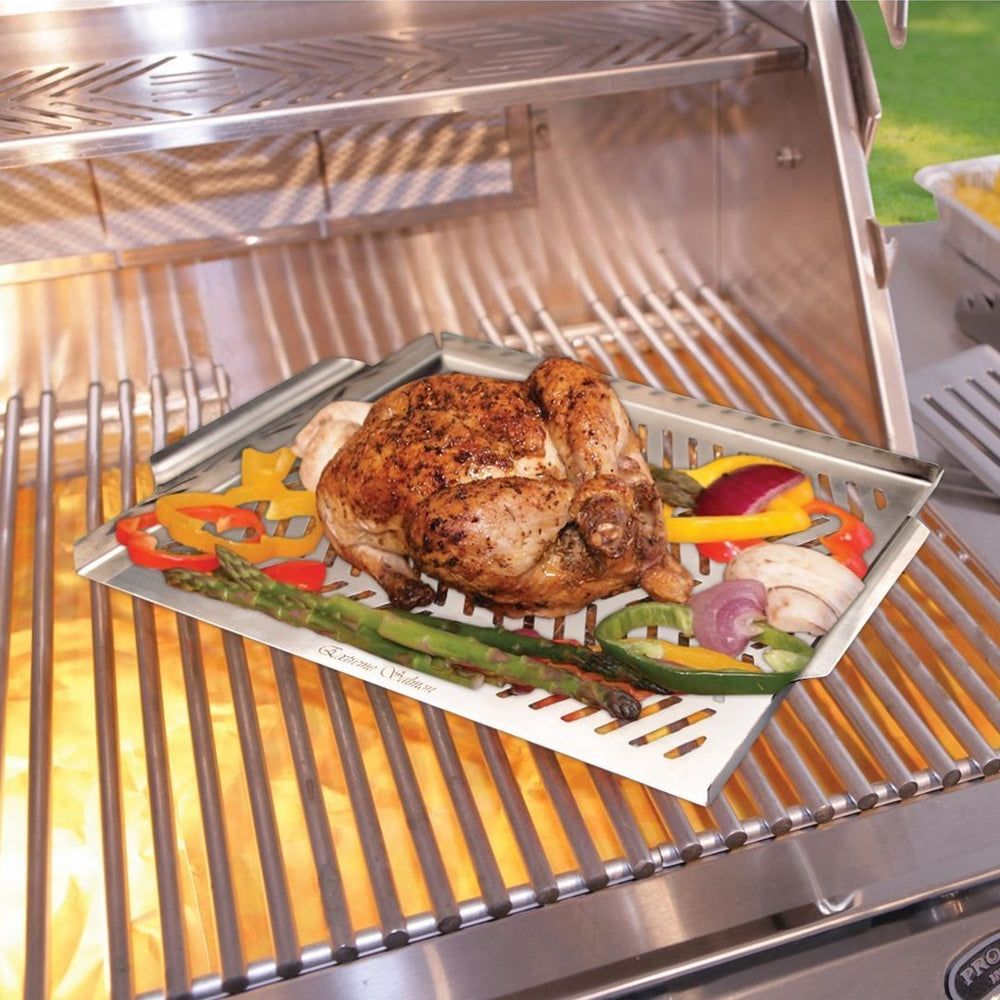 Stainless Steel Grill Topper Pan