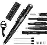 6-in-1 Survival Multi-Tool Tactical Flashlight Pen and Key Tool