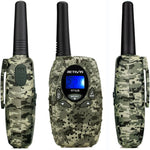 Set of 2 LCD Display Long Range Walkie Talkies - 22 Channels and 2 Way Radio