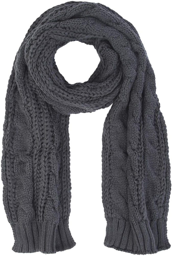 Women And Mens Winter Thick Cable Knit Wrap Chunky Long Warm Scarf