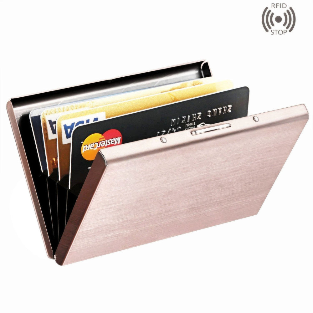 Stainless Steel RFID Protected Credit Card Wallet