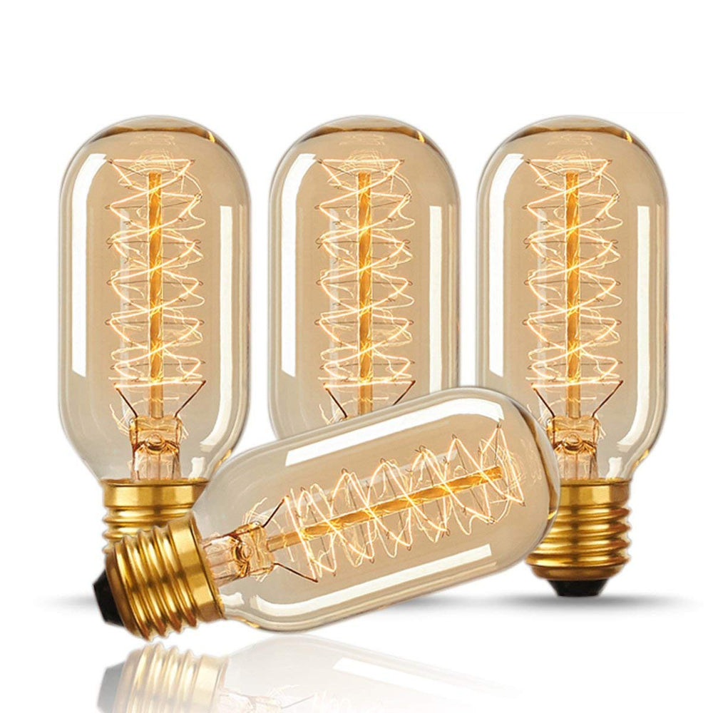4 Pack: Antique Vintage 40W Warm White E26 Light Bulbs