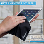 Cleaning Cloth (12 PACK) - to clean Glasses, Lens, Cell Phone, Tablet, Laptop, TV, LED, LCD screens - Premium Lintfree fiber - Computer Screen and Eyeglass cleaner
