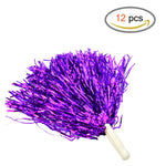 baotongle 12 PCS Cheerleading Squad Spirited Fun Poms Pompoms Cheer Costume Accessory For Party Dance Sports