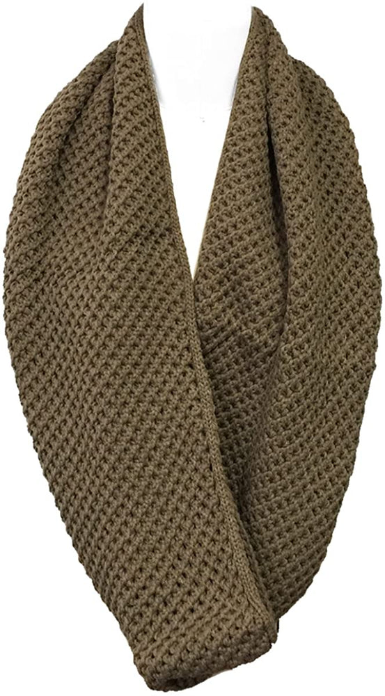 Bowbear Solid Color Warm Winter Knit Infinity Scarf
