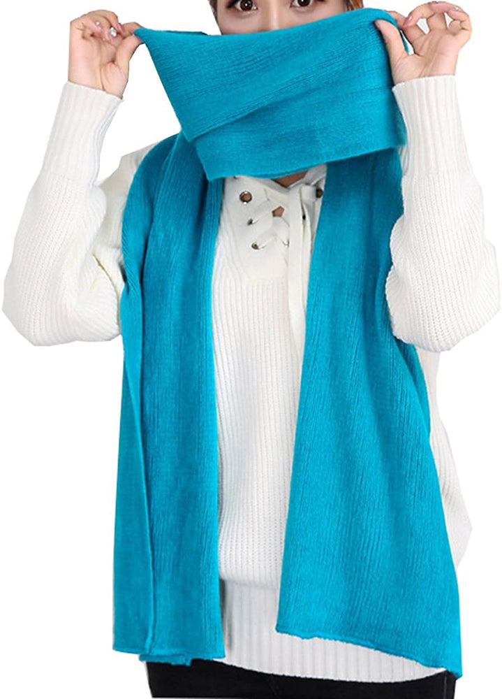 Wander Agio Women's Warm Long Shawl Winter Warm Large Scarf Pure Color