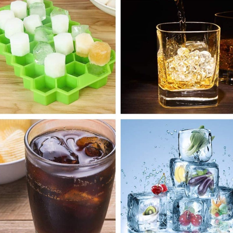 2 Pack Silicone Mini Ice Cube Trays With Lid